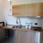 cusina di design experience Kitchen macchina del caffè tostapane legno massello con venature e acciaio