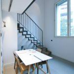 sedie Foglia design Marco Ferreri scala in acciaio