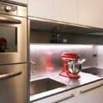 impastatpre rosso cucina acciaio invecchiato e colonna multichef