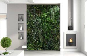 giardino verticale stabilizzato parete intera
